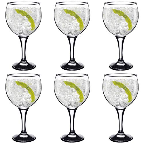 Españoles Gin Tonic cócteles Vasos - 645ml (22,7 oz) Pack de 6 Globo Glasses