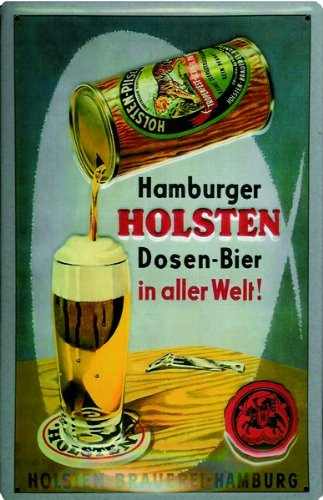 art-deco-aluminium-sign-hamburger-holsten-cans-beer-on-earth-300x200-mm