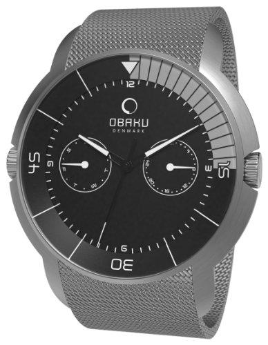 Obaku Harmony - V141GCBMC - Montre Homme - Quartz Analogique - Bracelet Acier Inoxydable Argent