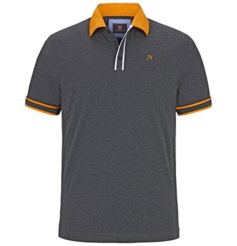 Jan Vanderstorm Herren Poloshirt Isfried Dunkelgrau Größe 68/70 (XXXXL) (College-rugby-shirt)