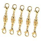 B Baosity 5 Stück Magnetische Schmuck Verschlüsse Magnetverschlüsse Kettenverschluss für Schmuck Halskette Armband - Gold