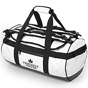 Sac de Voyage et Sport Convertible en Sac à Dos - Duffel Bag - The Friendly Swede (Blanc 30L)