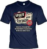 Lustige Sprüche Fun Tshirt Update Jetzt Version 50 - Geburtstag Tshirt mit Mini-Shirt