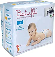 Cam Newborn Diapers Size 2, Pack of 1-21 Pieces