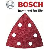 Bosch Genuine Delta Schleifblätter für Holz (25 Blatt, Grit=180) (keine Bosch Pt 2608605603) (passend für: Bosch PDA & GDA Schleifer) C/W KeyTape STANLEY + Cadbury Schokoriegel