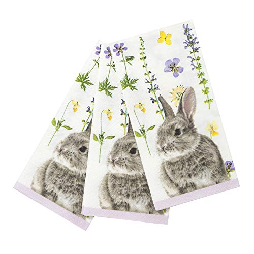 Talking Tables TSBUNNY-SINGNAPV2 Truly Bunny Single Napkin Pk20, Papier, mehrfarbig