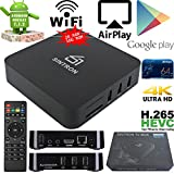 Android TV Box Streaming Player - SINTRON (2018 New Design) Latest Android 7.1 with 2GB RAM & 16GB ROM Incredibly Powerful Quad Core Amlogic 64-bit Processor, Penta Core Mali-450 GPU 4K2K, High Speed 2.4GHz WiFi, Including Power Adapter and HDMI Cable, Easy Setup Plug and Play, 1000+ Facebook Likes, 24-Hour Customer Support, 30-Day Money Back Guaranteed