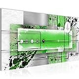 Bilder Abstrakt Wandbild 100 x 40 cm Vlies - Leinwand Bild XXL Format Wandbilder Wohnzimmer Wohnung Deko Kunstdrucke Grün 1 Teilig -100% MADE IN GERMANY - Fertig zum Aufhängen 107812c