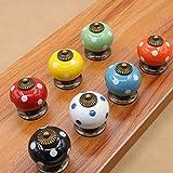 Vackert liv x 7 x keramiska dörrknopp skåpknappar lådknoppar med skruv 7 färgglada pumpaknappar