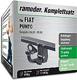 Rameder Komplettsatz, Anhängerkupplung abnehmbar + 13pol Elektrik für FIAT Punto (148288-04278-1)
