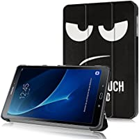 Funda Samsung Galaxy Tab A 10.1 2016 (A6) Case, con [Auto Sueño / Estela] HZSSEC Smart Cover Case Ligera Funda Cáscara para Samsung Galaxy Tab A 10,1 pulgadas 2016 T580N / T585N Tablet, Don't touch