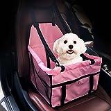 KDGWD Sac de Transport pour ChatSiège de voiture Bagage Bagage Cage Luxe Portable Band Gripper Ceinture de sécurité et fermeture à glissière Pouch Pet Dog Booster siège de voiture étanche respirant (rose)