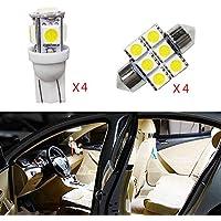 para Carnival Super Brillante Fuente de luz LED Interior Lámpara de Coche Bombillas de Repuesto Blanco