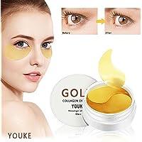 Máscara de ojos de colágeno de oro 60PCS para ojos hinchados, corrector de círculos oscuros, utilizado para debajo de los bolsos del ojo