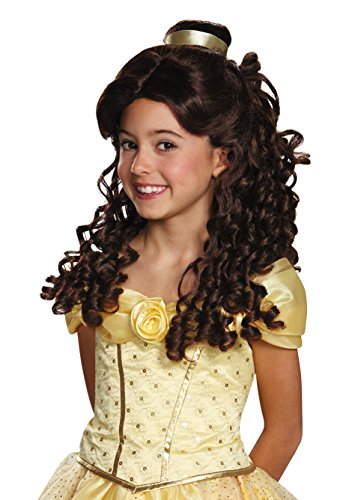 Disguise Belle Ultra Prestige Child Disney Princess Beauty & The Beast Wig, One Size Child, One Color by Disguise