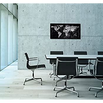 Sigel 91 x 46 cm Artverum World Map Design Magnetic Glass Board