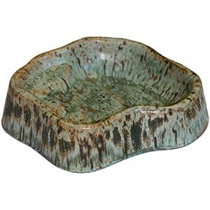Namiba Terra 9202 Terra-Puzzle Keramik-Terrassen-Wassernapf, 24 x 19 cm, grün glasiert