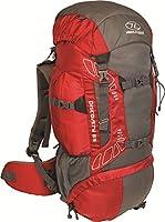 Highland Discover Adventure Travel Rucksack Back Pack Backpack + Cover 45L 65L 85L Red