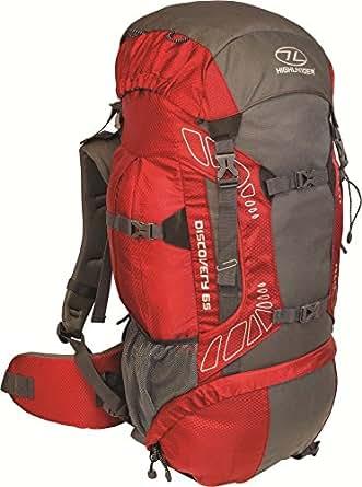 Highland Discover Adventure Travel Rucksack Back Pack Backpack + Cover 45L 65L 85L Red (85 Litre)