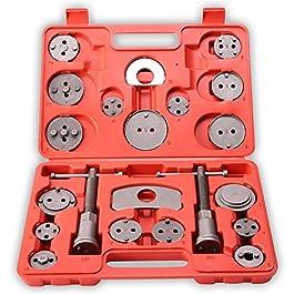 TRESKO 22 Pezzi Set di ripristino pistone del freno per spostare indietro il pistone dei freni a disco, ganasce dei…
