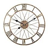 ZUJI Reloj de Pared Vintage, Ø40CM Reloj de Pared Silencioso Reloj de Decoración para Hogar Cocina Salon Oficina Comedor Habitación
