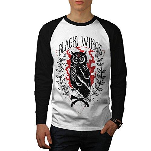 black-and-wings-owl-wild-forest-men-new-white-black-sleeves-l-baseball-ls-t-shirt-wellcoda