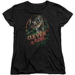 Jurassic Park Parque jurásico–Womens Clever Girl T-Shirt en negro Negro negro X-Large