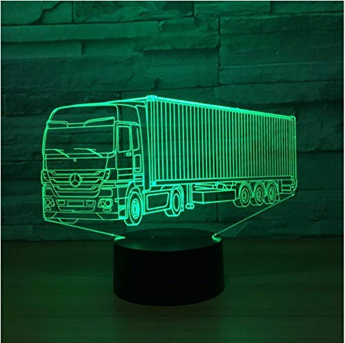 7 Farben Ändern 3D Kreative Visuelle Led Großen Lkw Modellierung Nachtlichter Usb Auto Schreibtischlampe Baby Schlaf Beleuchtung Geschenke Geschenke -