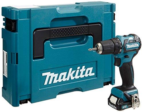 Makita Akku-Bohrschrauber (10,8 V, SystemKIT mit 1 Akku 1,5 Ah, ohne Ladegerät, im MAKPAC) DF332DY1J