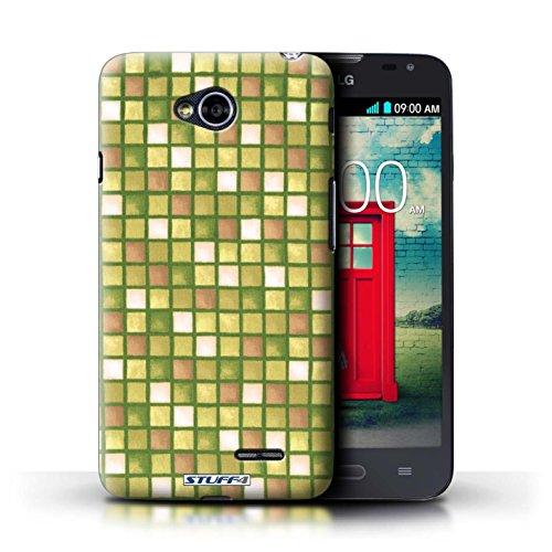 Kobalt® Imprimé Etui / Coque pour LG L70/D320 / Violet/Vert conception / Série Carreau Bain Or