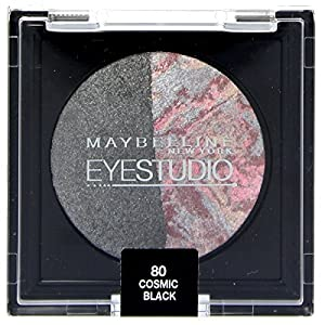 Maybelline Eyestudio Duo Baked Eyeshadow, Cosmic Black Number 80 by Maybelline
