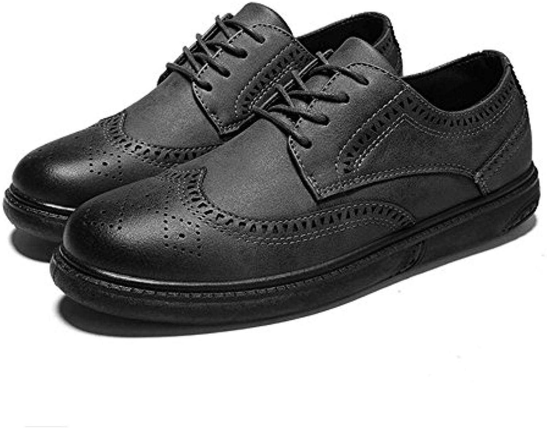 LXMEI Herren Frühling Comfort Lederschuhe Neue Casual Herrenschuhe Peas Lazy Schuhe Frühling Casual Herrenschuhe