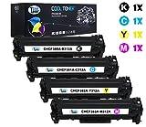 Cool Toner kompatibel toner für CF380X CF381A CF382A CF383A für HP Color LaserJet Pro MFP M476nw M476dn M476dw, K-4400 Seiten, C/M/Y-2700 Seiten