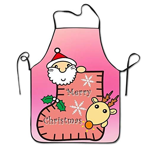 SDFGSE Christmas Santa Claus Women's Funny Creative Print Cooking Aprons