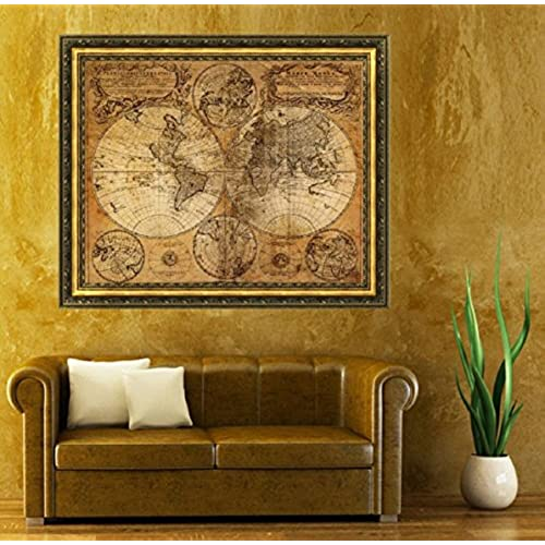 Vintage world map amazon malloom vintage style retro cloth poster globe old world nautical map gifts gumiabroncs Images