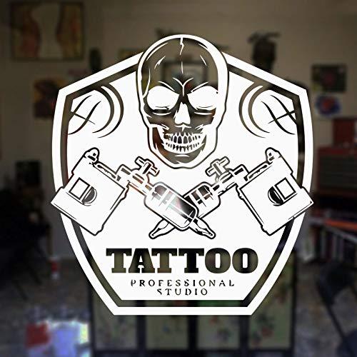 hllhpc Tattoo Shop Salon Logo Tattoo Salon Window Sticker Adesivo Art Studio Vinyl Sticker Decorazione murale Murals impermeabile57 * 61cm