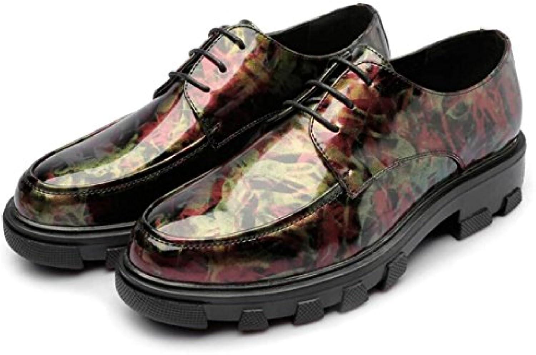 DHFUD Zapatos De Camuflaje De Primavera Zapatos Impresos Zapatos Informales De Hombres Británicos Ronda Zapatos  -