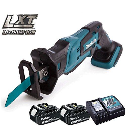 Makita DJR185Z 18V Cordless Mini Reciprocating Saw With 2 x