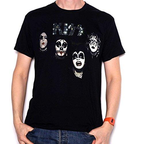 Old Skool Hooligans Kiss T Shirt-Primer Álbum Caras 100%...