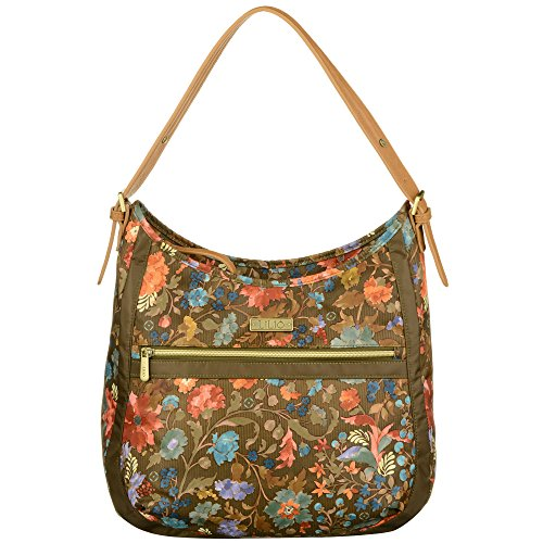 LiLiÓ Hobo Bag LIL7545-849-Antique Bronze Damen Schultertasche Handtasche (35x13x37,5 cm) -