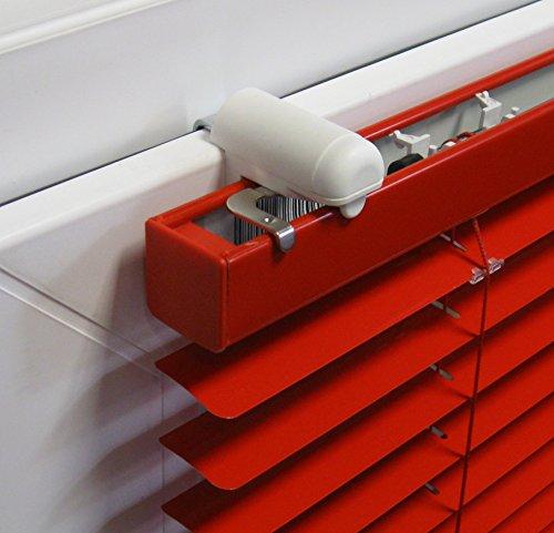 ps FASTFIX-Klemmträger für Jalousien (2 Stück) - Montage ohne Bohren direkt auf dem Fensterflügel Ihres PVC-/Kunststofffensters (Pvc-jalousie)