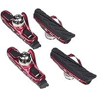 Xlc Zapatos de freno Cartridge Road BS de R06Juego de 455mm, Rojo/Negro, 2500386100
