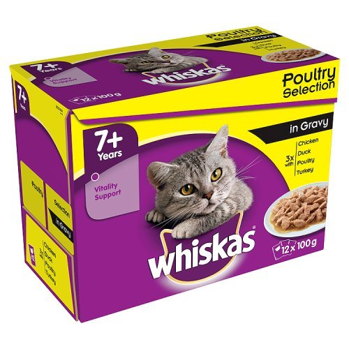 whiskas-7-plus-wet-cat-food-with-poultry-selection-in-gravy-100g-pack-of-12