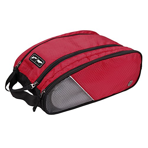 BAGSMART Polyester-Schuhbeutel Reiseschuhtasche mit Reißverschluss (32 x 14 x 23cm)
