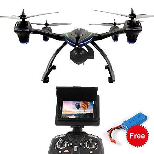 Dazhong Quadcopter Drone con 506G 5,8 GHz in tempo reale FPV di trasmissione Monitor One-Key-ritorno senza testa 2.4G 4Ch 6-Axis RC Quadcopter + batteria extra