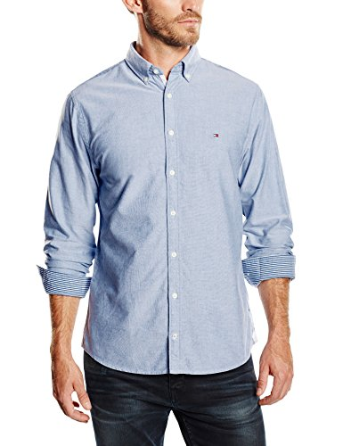 Tommy Hilfiger Ivy Oxford - Chemise Casual - Homme Bleu - Shirt Blue