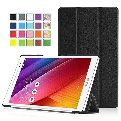 MoKo ZenPad S 8.0 Hülle - Ultra Slim PU Leder Tasche Schutzhülle Schale Smart Case mit Auto Sleep/Wake up Funktion und Standfunktion für ASUS ZenPad S 8.0 Z580C / Z580CA 8 Zoll Tablet-PC, Schwarz