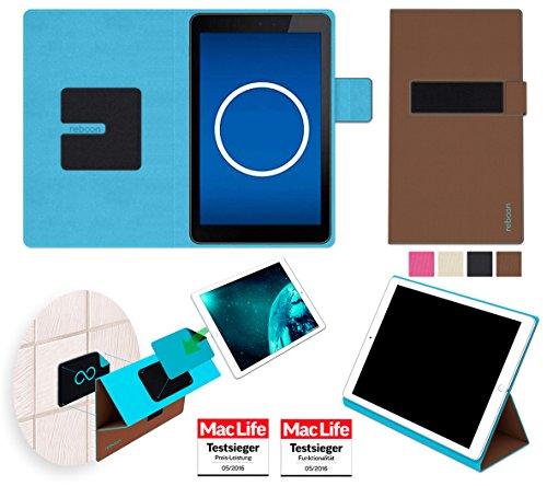 reboon Hülle für Dell Venue 7 3741 Tasche Cover Case Bumper | in Braun | Testsieger