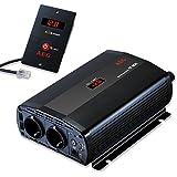 AEG 97116 Spannungswandler ST 800 Watt, 12 Volt auf 230 Volt, mit LCD-Display, USB Ladebuchse, Fernsteuerungsmodul und Batteriewächterfunktion