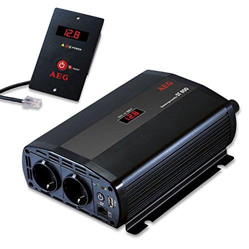 Preisvergleich Produktbild AEG 97116 Spannungswandler ST 800 Watt, 12 Volt auf 230 Volt, mit LCD-Display, USB Ladebuchse, Fernsteuerungsmodul und Batteriewächterfunktion